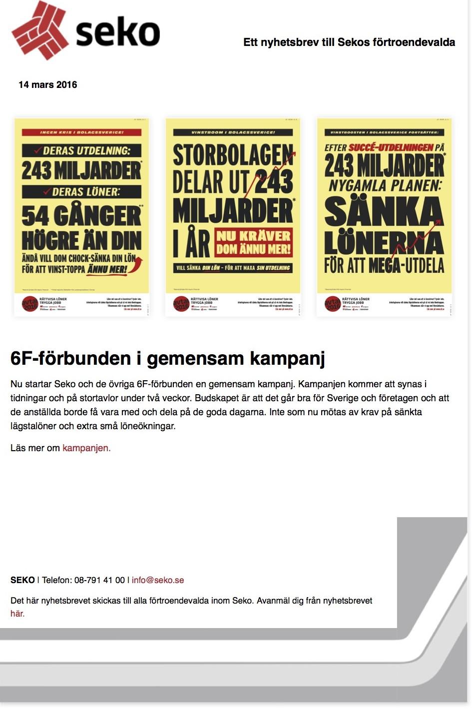 6F-forbunden i gemensam kampanj