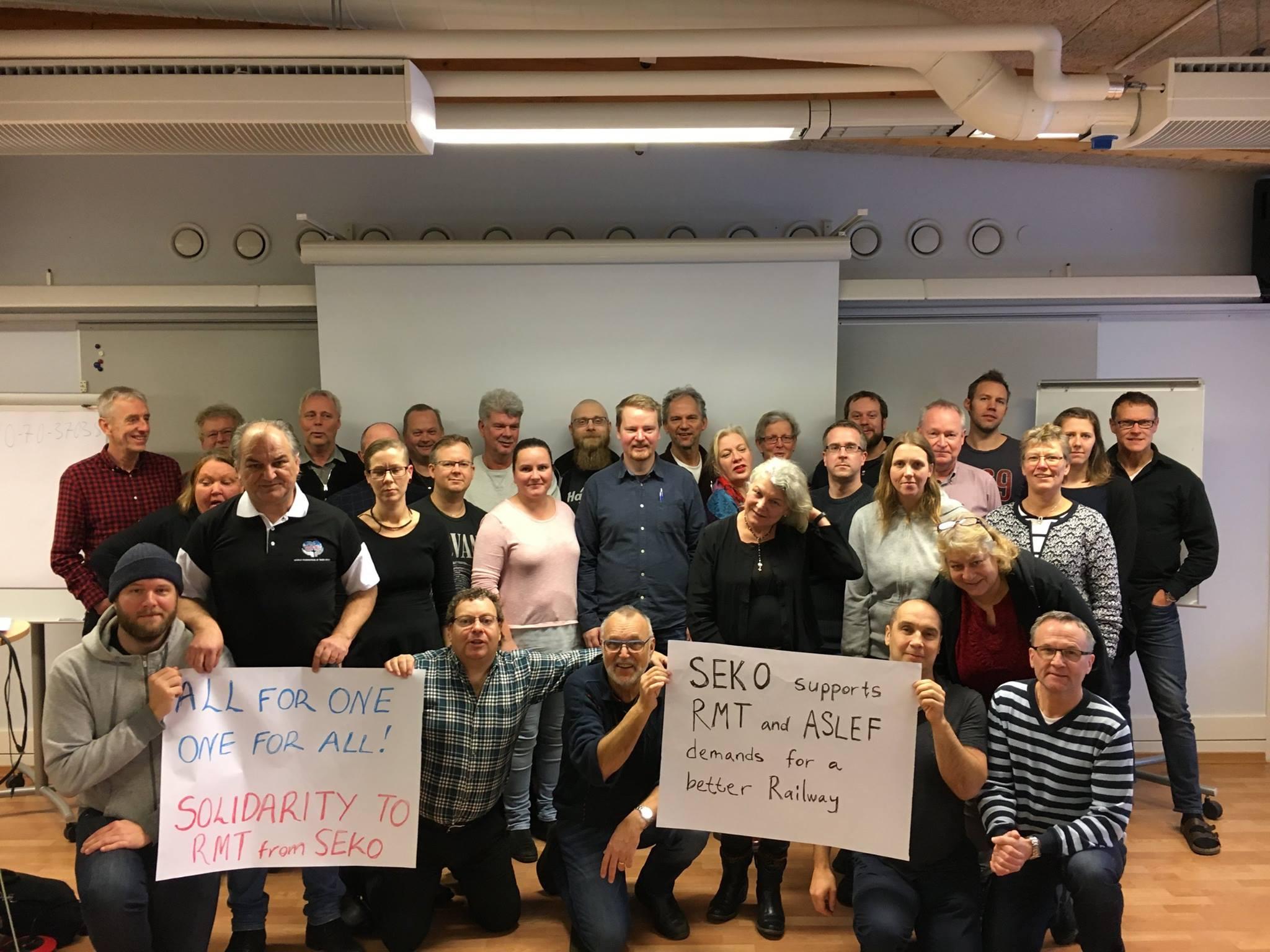 Seko stödjer RMT OCH ASLEF i deras kamp för en bättre järnväg i Storbritannien